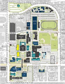 Fullerton College Map - 300-500 Buildings
